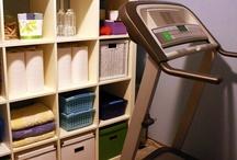 home workout room / workout room ideas / by Lauren Adair Cooper