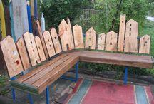 bench / сделал лавку в честь деда
