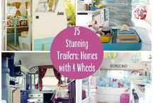 traveling chic /cosy spaces / Caravans sheds tiny houses or spaces compact living or multi storage