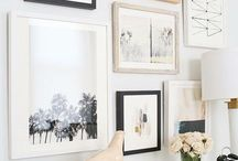 Wall art/ photo arrangements