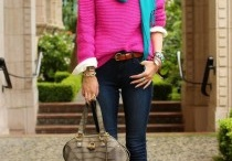 Inspiration: Bright Colors for Fall / Wearing bright solids and fun patterns for the fall