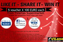 Chritmas Competition ! / Who is excited for Christmas? Vilanos Real Estates gives the chance to 5 lucky people to WIN a €100 voucher from Tsiartas Supermarkets this Christmas!