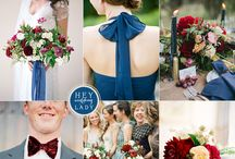 Red/ Wine/ Scarlet/ Burgundy/ Ruby Weddings / Various Red Palettes/ Various Red Color Combinations