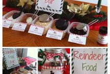 Party Ideas: Reindeer Food Station / Watch their little faces light up at the thought of this magical reindeer food. As the story goes, sprinkle the reindeer food outside and it will sparkle in the moonlight – leading Santa and his reindeer straight to your home. Download your free reindeer food label here http://imprintables.com.au/details/reindeer-food-recipe-free-downloadable/