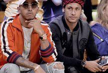 Lewis Hamilton i Neymar JR