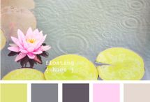 Colour schemes / A selection of complimentary colours for home decoration.