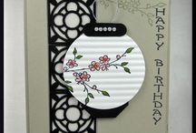 Oriental themed handmade cards