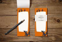 Liebevolles für Notizen / Liebevoll gestaltete Notizblöcke und Notizhefte für Erinnerungen, Einkaufslisten, Termine und Co.