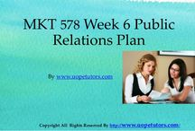 MKT 578 Week 6 Public Relations Plan