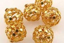Metal Beads > High Karat Gold / 20k gold beads.