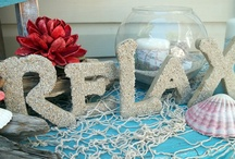 Decorative letters / Interesting way of decorating unpainted MDF letters
