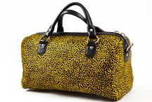 3.7.6. Just Bag SNG / Yellow black spotted cow's hide with black natural leather, yellow fabric inside