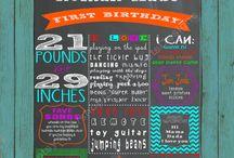 Easton's first birthday  / by Brittney Crump
