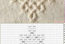 Вязание спицами. Узоры и модели