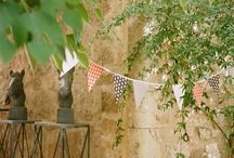 bunting banners everywhere.....