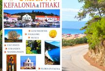 """""""Discovering Kefalonia & Ithaki"""" in 5 languages,  """"Discovering Kefalonia"""" in 3 languages / front cover of the tourist guide """"Discovering Kefalonia & Ithaki"""""""