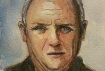 Anthony Hopkins Watercolor Portrait / Watercolor