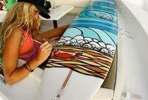 Desenho em Prancha de Surf