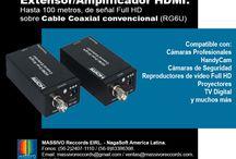 Conectividad / Dispositivos para soluciones de conectividad. Extensores, amplificadores de video, convertidores, splitters, wireless, adaptadores, upscaler, etc