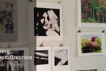 My studio and work / Some references to articles and images on my blog and studio walls