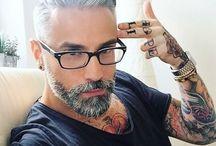 grey hair, white hair