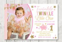 Twinkle Little Star Pink and Gold Birthday Ideas