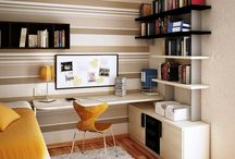 Home Office & Library.. / Office space with a touch of library. / by Lisy Westerburger ( medusaaua )