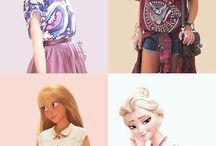 disney characters in the modern world