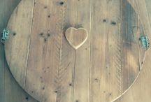 Raamluikje steigerhout
