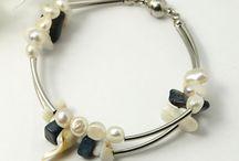 """Bracelet 2 rangées de pierres """"facile"""""""