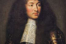 Mens' Hair - Cavalier / Featuring long, natural hair to the shoulder, small, carefully groomed mustaches and goatees