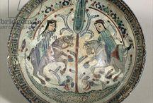 Islamic Art / Ceramics in Islamic art. Syria,İran etc.