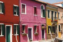 Gekleurde woningen