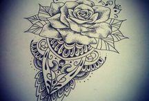 Mandala/geometric tattoo