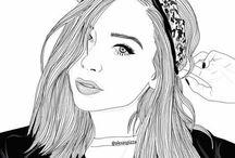 chicas tumblr dibujos