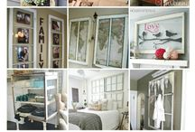 Repurposed old windows or doors