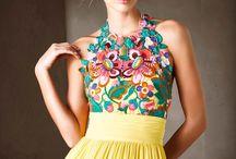 vestidos 15 flores