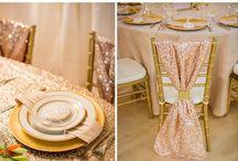Metallic,Glitter and gold wedding ideas