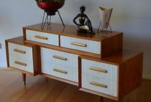 mid century sideboards/built in cabinets