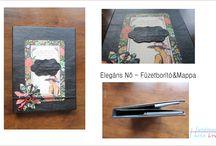 Műbőr kötésű füzetborítóim, mappáim / Műbőr&scrapbook kombinációját használtam fel a füzetborítók és mappák készítése során :)