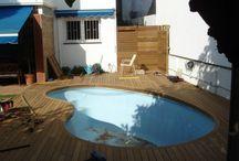 Vivienda Vilassar, Tarima Exterior en piscina