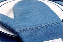 jeans přešívání