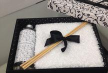 kit toalha e aromatizador