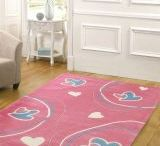 Quality Kids Rugs / Our stunning new range of designer kids rugs come in the yummiest colours and trendiest designs. A great way to decorate your child's floor with funky colours. These quality rugs will ensure your young-ins are cozy over winter and will add a splash of colour to any setting.