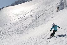 Mt Bachelor Oregon skiing / Mt Bachelor skiing, ski photos of volcano skiing in Oregon, Bend breweries, where to stay and ski at Mt Bachelor in Oregon