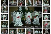 Boże Narodzenie -własnoręcznie wykonane ozdoby . / Moje robótki.                                            www.facebook.com/Szydełkowe-Czary-Mary-747131051999523/
