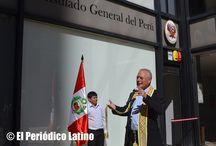 Inauguración del nuevo edificio del Consulado del Perú en BCN / Con la presencia de las más destacadas personalidades del cuerpo diplomático acreditado en Barcelona, los presidentes de federaciones y asociaciones peruanas se inauguró oficialmente el nuevo edificio del Consulado General del Perú en Barcelona, ubicado ahora en Av. Tarragona 110 Linea del Metro Tarragona.