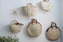 Straw Tote Love / Amour Paniers Natural fibers