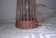 papírfonás váza / újságpapírból készül