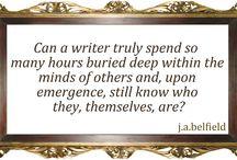 #jabisms From My Journal / Weird stuff in my head. / by J.A. Belfield